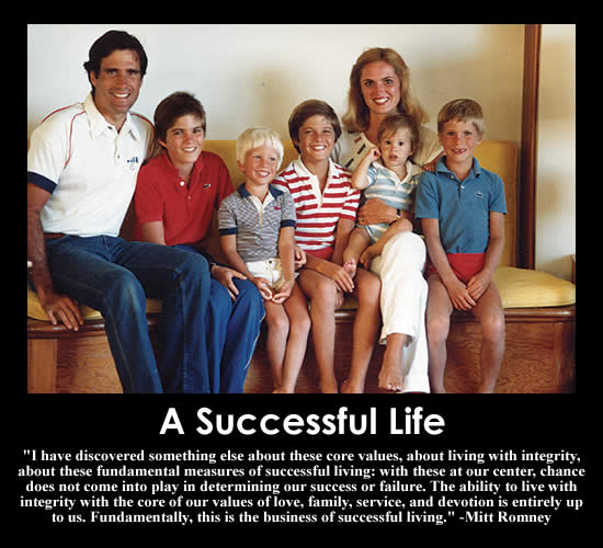 A Successful Life - Mitt Romney Quote