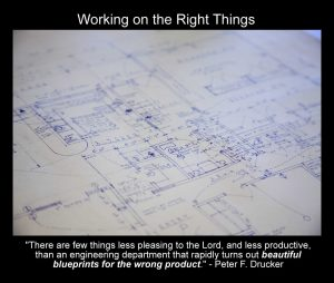 Working on the right things - Peter Drucker