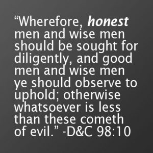 honest men should be sought