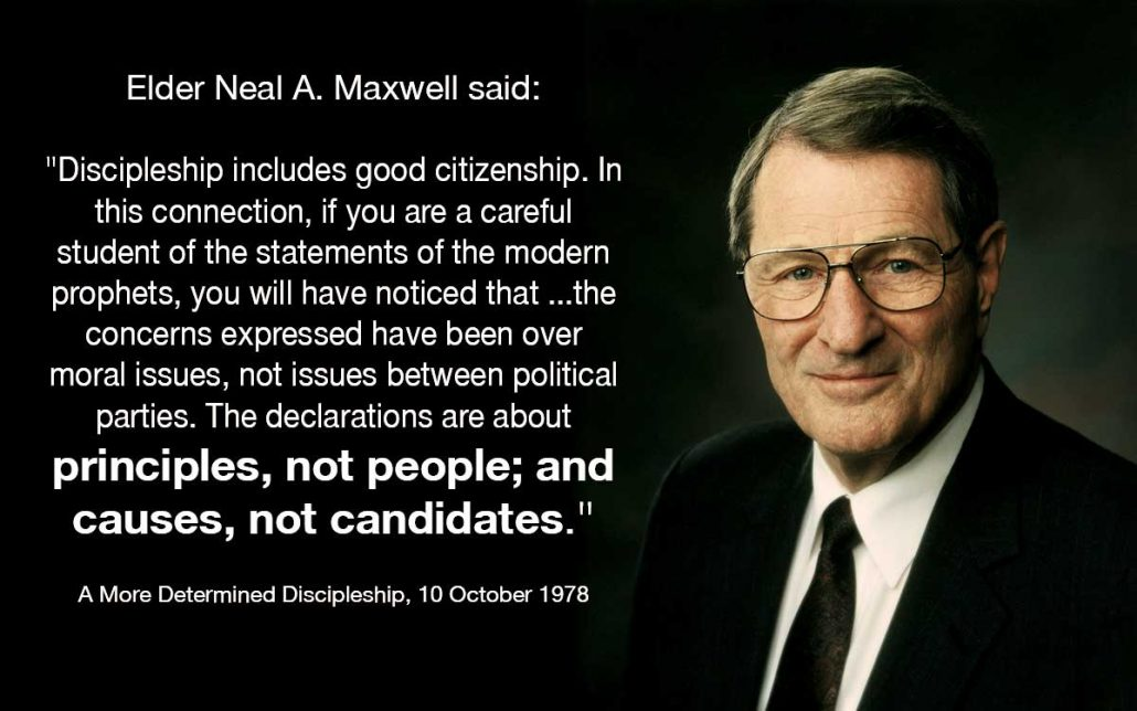 principles, not people, causes, not candidates, maxwell