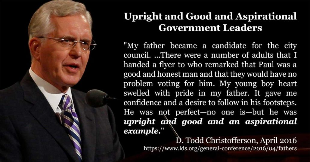 upright and good and aspirational leaders - Christofferson