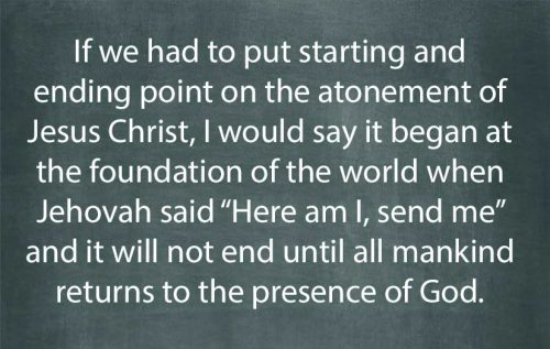 atonement began at the foundation of the world