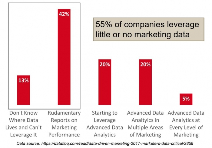companies leverage little or no marketing data