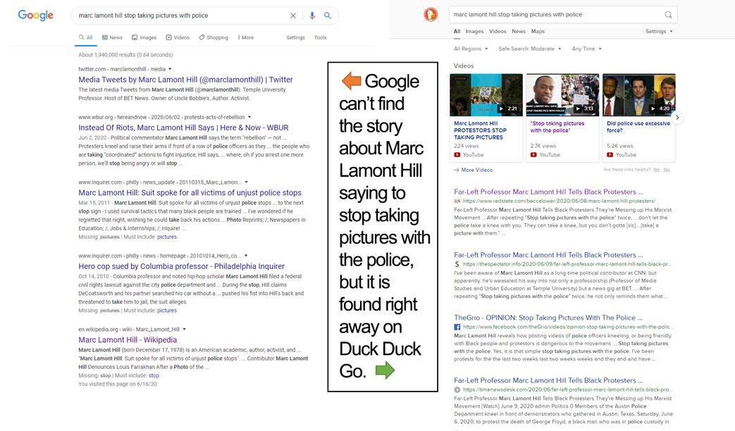 marc lamont hill google vs duck duck go search